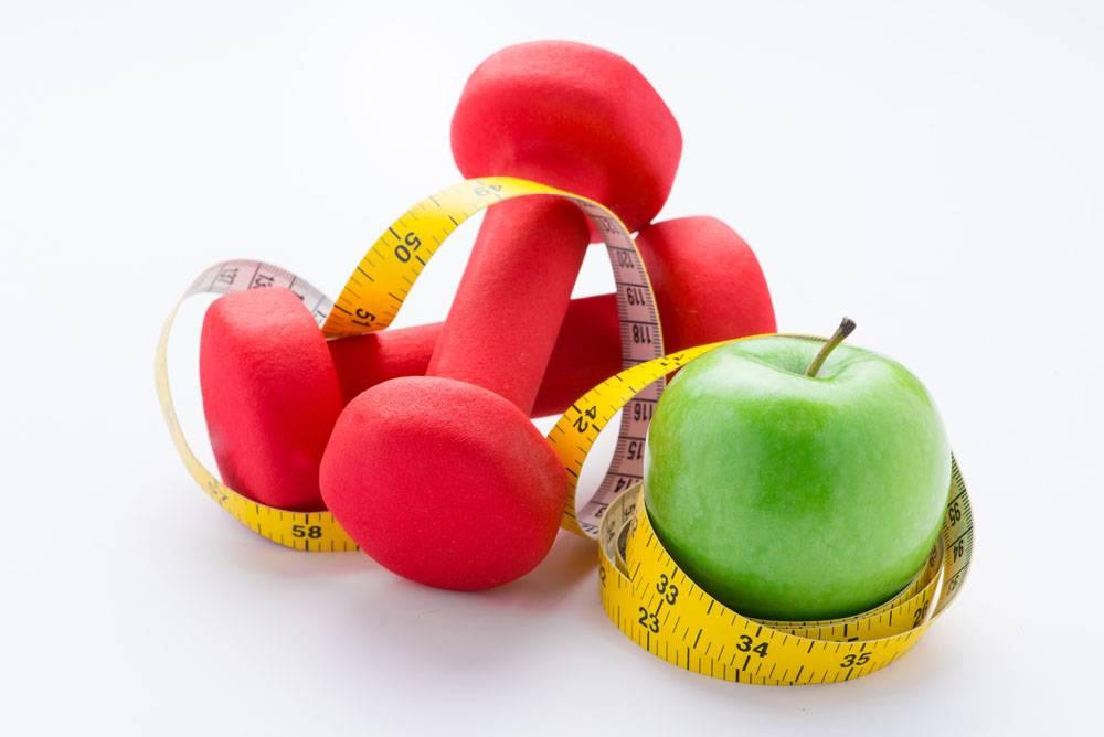 哑铃和苹果