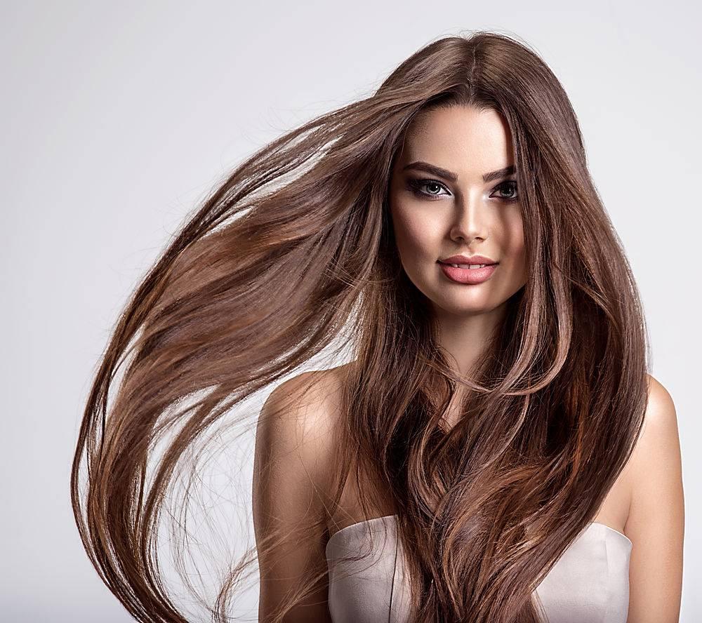 飘逸的长发模特