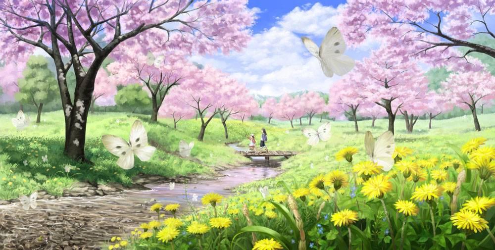 动漫,动漫,景观,蝴蝶39742图片