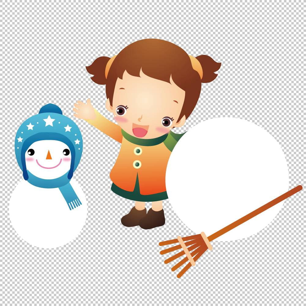 雪人儿童插画,女孩和雪人PNG剪贴画杂项,儿童,冬季,时尚女孩,婴儿图片