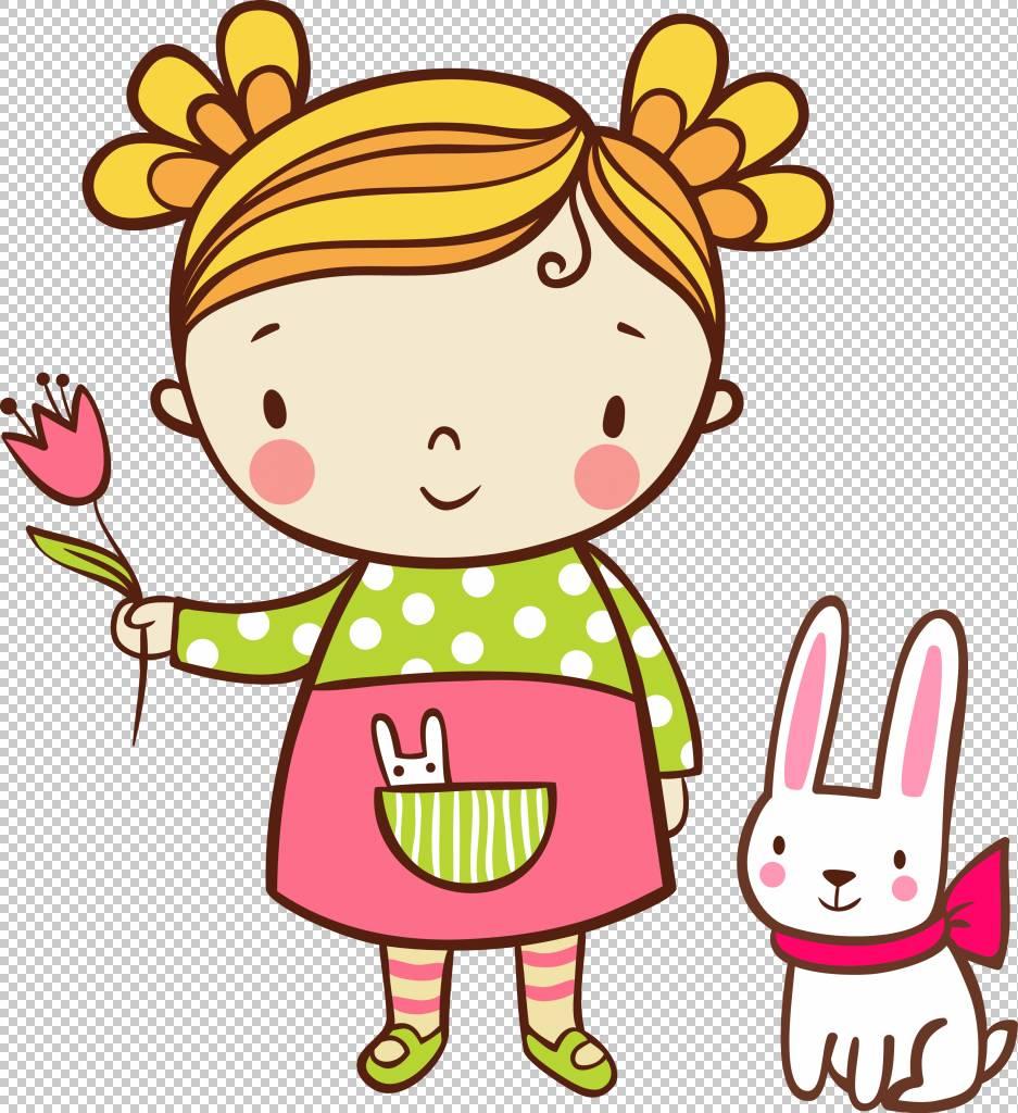 儿童免版税插图,女孩抱着花PNG剪贴画食品,摄影,蹒跚学步,生日快图片