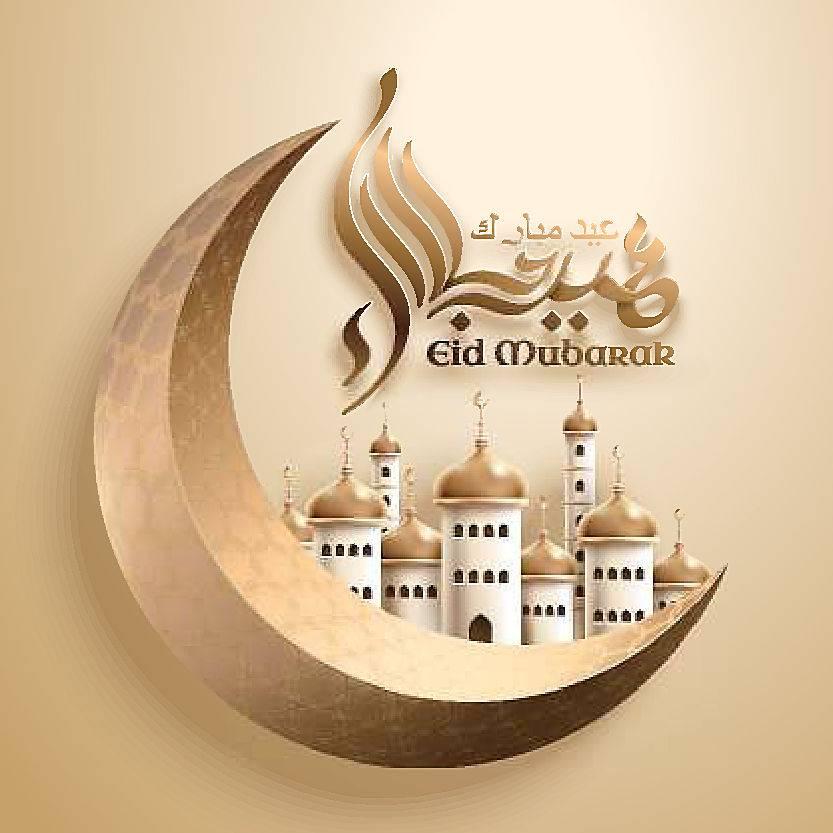 白色的清真寺月亮回文开斋节