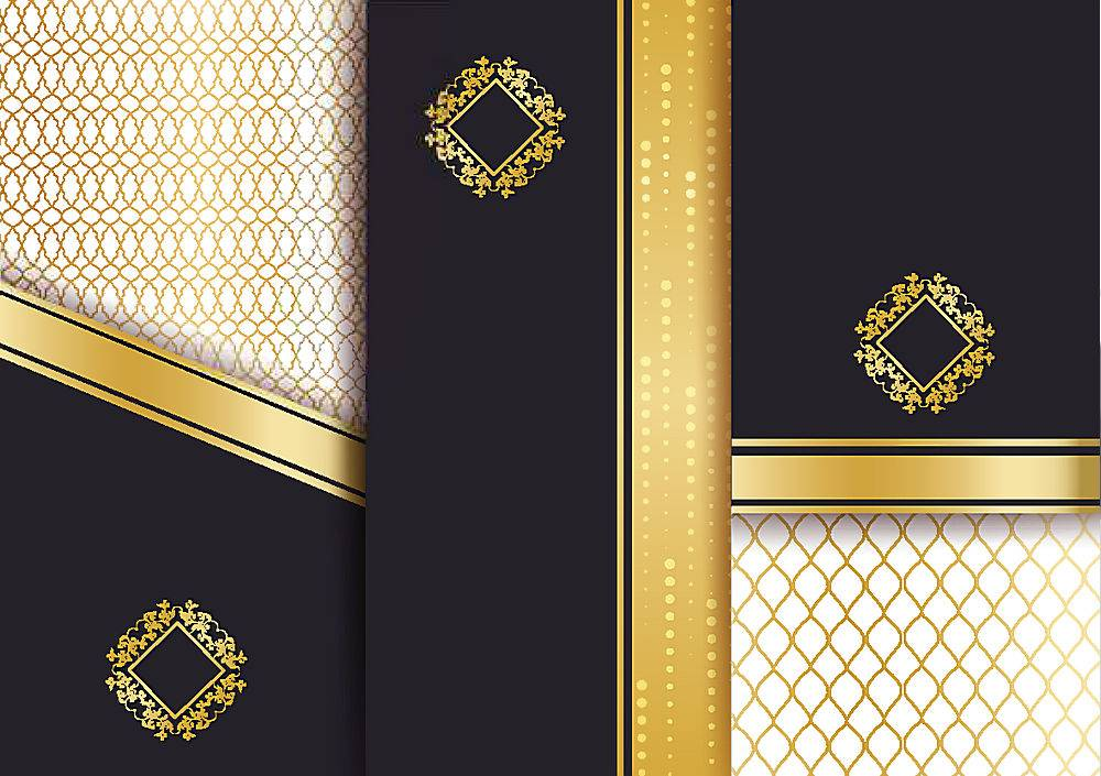 黑色高端大气企业通用三折页传单图片